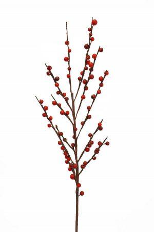 Ilexbär, röda, konstgjord kvist-0