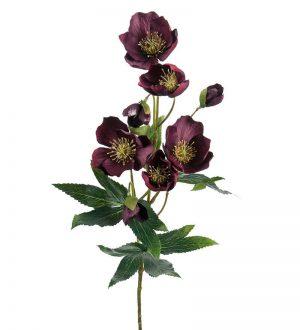Julros, vinröd, konstgjord blomma-0