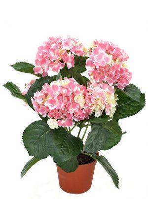 Hortensia, ljus rosa, konstgjord krukväxt-0
