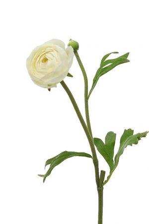 Ranunkel, creme, konstgjord blomma-0