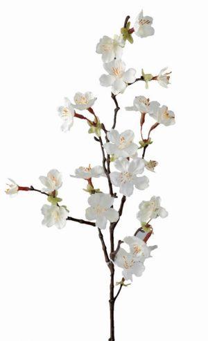 Körsbärsblom, vit, konstgjord blomma-0