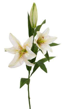 Lilja, creme, konstgjord blomma-0