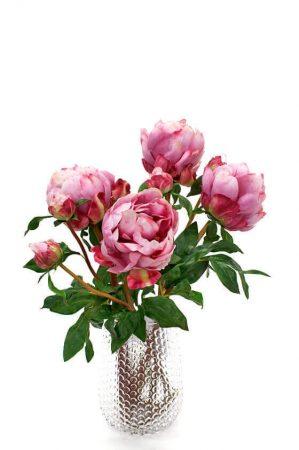 Pion, rosa cerise, konstgjord blomma -4639