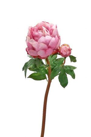Pion, rosa cerise, konstgjord blomma -0