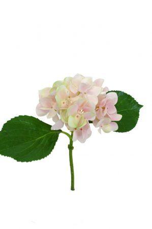 Hortensia, ljus rosa, konstgjord blomma-0