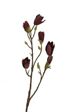 Magnolia, lila, konstgjord blomma-0