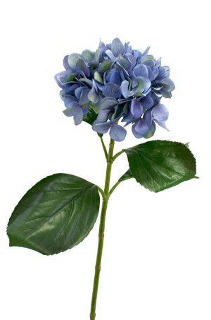 Hortensia, blå, konstgjord blomma-0