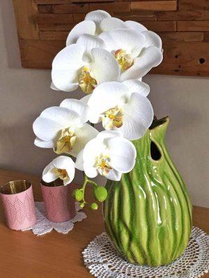Orkidéstängel, vit, konstgjord-0