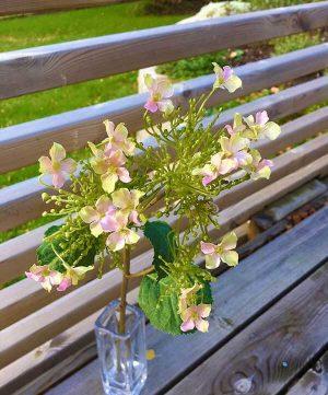 Hortensia, rosa, konstgjord blomma-0