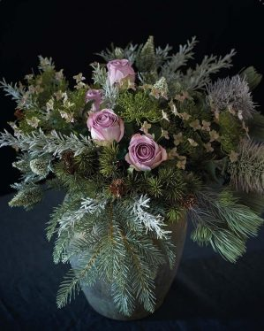 Hortensia, rosa, konstgjord blomma-4453