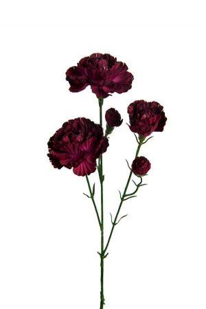 Elegance nejlika, mörk lila, konstgjord blomma-0