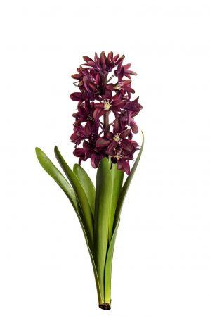 Hyacint, vinröd, konstgjord-0