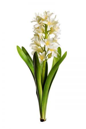 Hyacint, vit, konstgjord-0