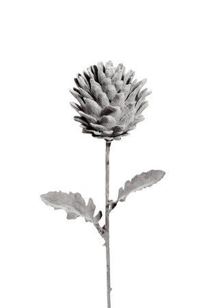 Stilig kvist, grå, konstgjord växt-0