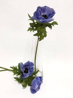 Anemon, himmelsblå, konstgjord blomma-0