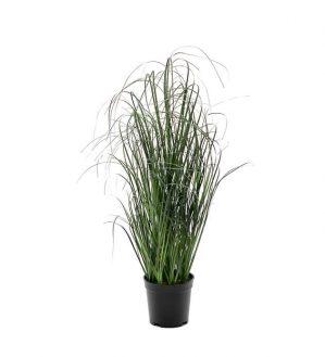 Gräs i kruka, konstgjord krukväxt-0