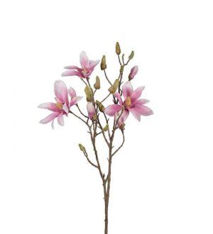 Magnolia, rosa, konstgjord blomma-0