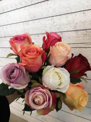 Ros, lax, aprikos melerad, konstgjord blomma-3336