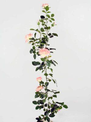 Rosengirlang, konstgjord, rosa vit-5347