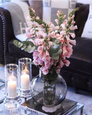 Fingerborgsblomma, rosa, konstgjord blomma-0