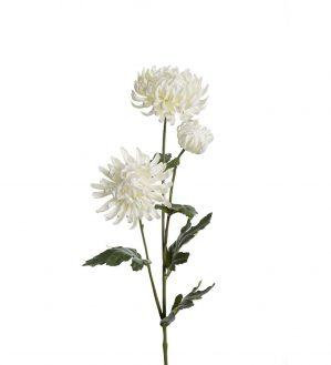Chrysanthemum, vit, konstgjord blomma-0