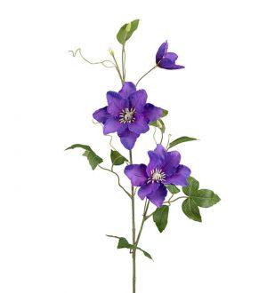 Clematis, blå, konstgjord blomma-0