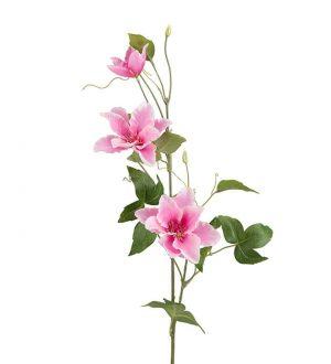 Clematis, rosa, konstgjord blomma-0