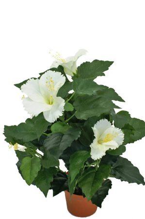 Hibiscus cream, konstgjord blomma-0