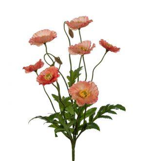 Vallmo, aprikos, konstgjord blomma-0