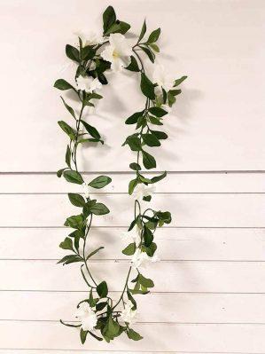 Petunia girlang, vit, konstgjord-0