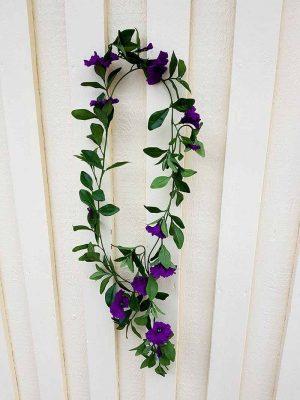 Petunia girlang, blå lila, konstgjord-0