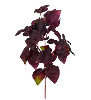 Basilika, vinröd, konstgjord-0