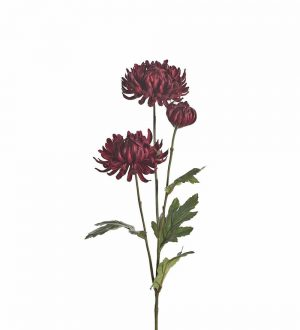Chrysanthemum, vinröd, konstgjord blomma-0
