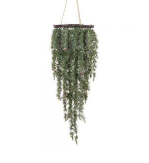 Lärkriskrona, frostig, hängande, konstgjord -0