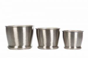 kruka borstad silver, liten-0