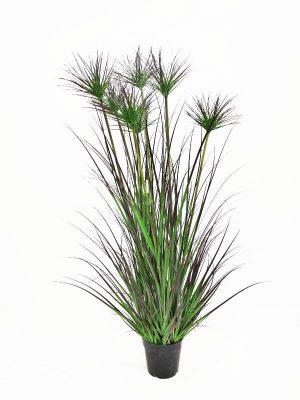 Papyrus, konstgjort gräs i kruka-0
