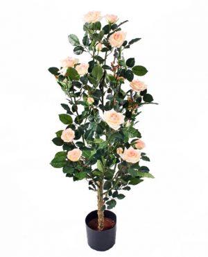 Ros i kruka, rosa, konstgjord krukväxt-0