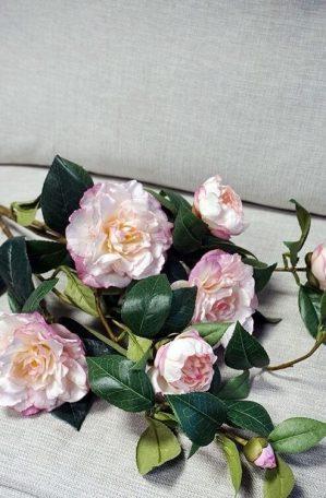 Kamelia, rosa, konstgjord blomma-4543