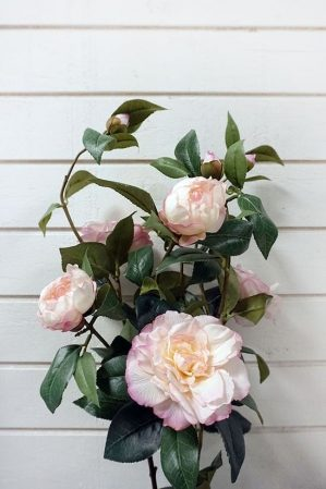 Kamelia, rosa, konstgjord blomma-4484