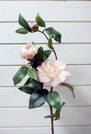 Kamelia, rosa, konstgjord blomma-0