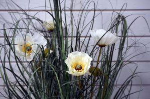 Gräs i kruka, konstgjord krukväxt-5247