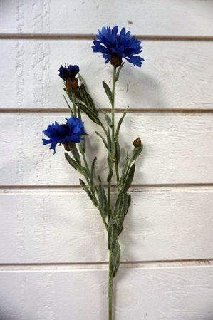 Blåklint, konstgjord blomma-0