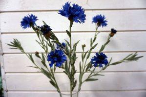 Blåklint, konstgjord blomma-5790