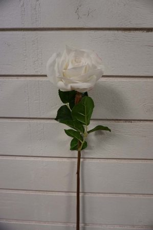 Ros, vit, konstgjord blomma-5889