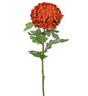 Chrysanthemum orange, konstgjord blomma-0