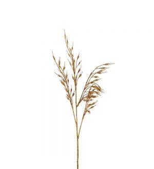 Gräs, sandbruna havreliknande ax, konstgjort-0
