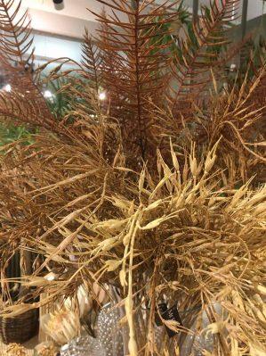 Gräs, sandbruna havreliknande ax, konstgjort-5956