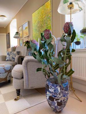 Protea, lila, konstgjord blomma-6210