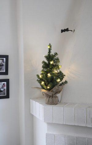 Gran, LED, 10 lampor, 45 cm, konstgjord-0