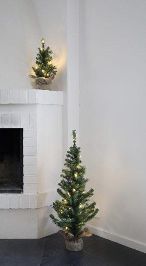 Gran, LED, 10 lampor, 45 cm, konstgjord-6016